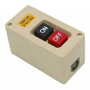 1x TBSP-330 3 Phase 3.7Kw 30A Push Button Switch Station ON//OFF Lock Tend