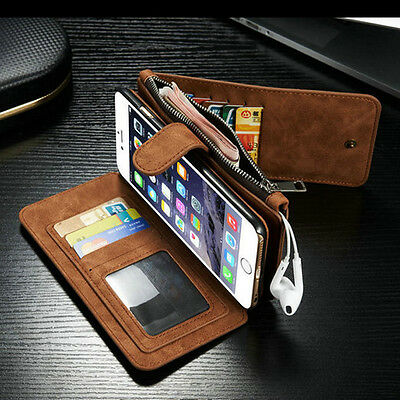 Genuine Leather Flip wallet card bag case phone cover for Apple iPhone 6 6s Plus