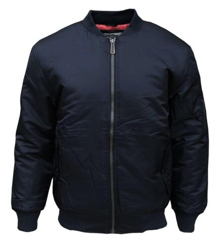 Soul Star MA 1 Men/'s Bomber Casual Mod Security Jacket Navy Large
