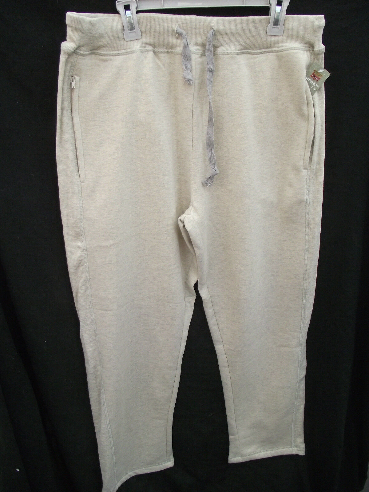 BNWT Men Sz X Large Rivers Cream Marle Straight Leg Fleece Lined Track Pants