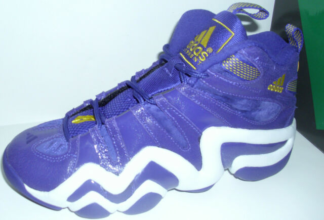 ADIDAS KOBE Lakers CRAZY 8 PURPLEYELLOW BASKETBALL HI TOP SHOES MENS