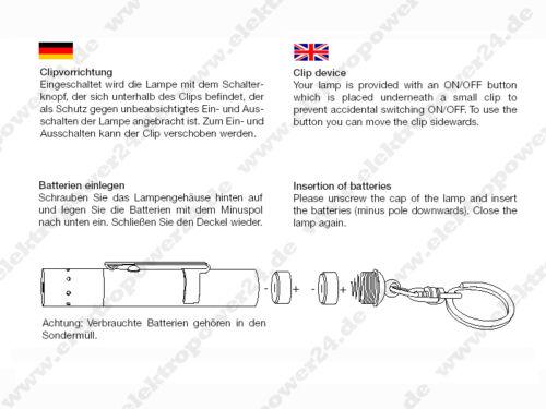 LED Lenser chiave Lampada fotoni POMPA v8 BLU 7552 TORCIA due fratelli