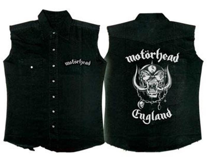 Official Licensed - Motorhead - England ärmellos Arbeitshemd Lemmy Metall