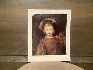 NORTON SIMON MUSEUM REMBRANDT VAN RIJN PRINT, PORTRAIT OF THE ARTIST SON TITUS