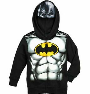 4998e4787 BATMAN Zip-Up Costume Hoodie Size 7 Childs Toddler Jacket New with ...