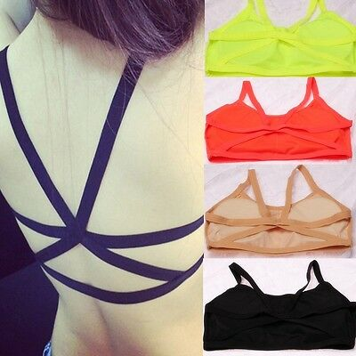 Lay Fashion Padded Bra Tops Strappy Bustier Vest Crop Top Bralette Blouse