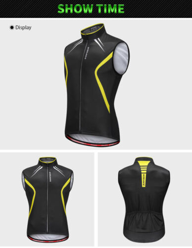 Mens Cycling Vest Gilet Biker Reflective Sleeveless Jerseys Bicycle Vests Riding