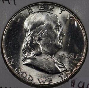 1949 Franklin Half Dollar Mint State #145724