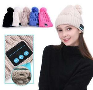 Winter Beanie Hat Wireless Bluetooth 3.1 Smart Cap Headphone Headset Speaker Mic
