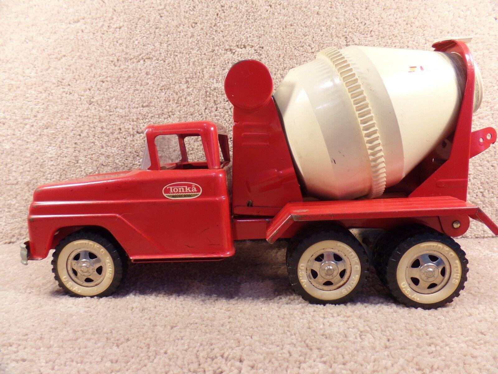 Rare années 1960 Tonka Toys Mound Minn FORD  bétonnière camion Pressé Acier Métal  contre authentique