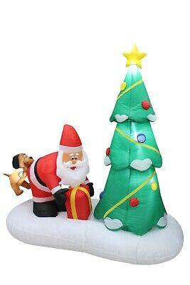 Inflatable Christmas Tree.6 Foot Tall Led Inflatable Christmas Tree Santa Claus Dog Yard Party Decoration Ebay