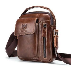 Men-039-s-Genuine-Leather-Business-Messenger-Shoulder-Bag-Travel-Satchel-Handbag