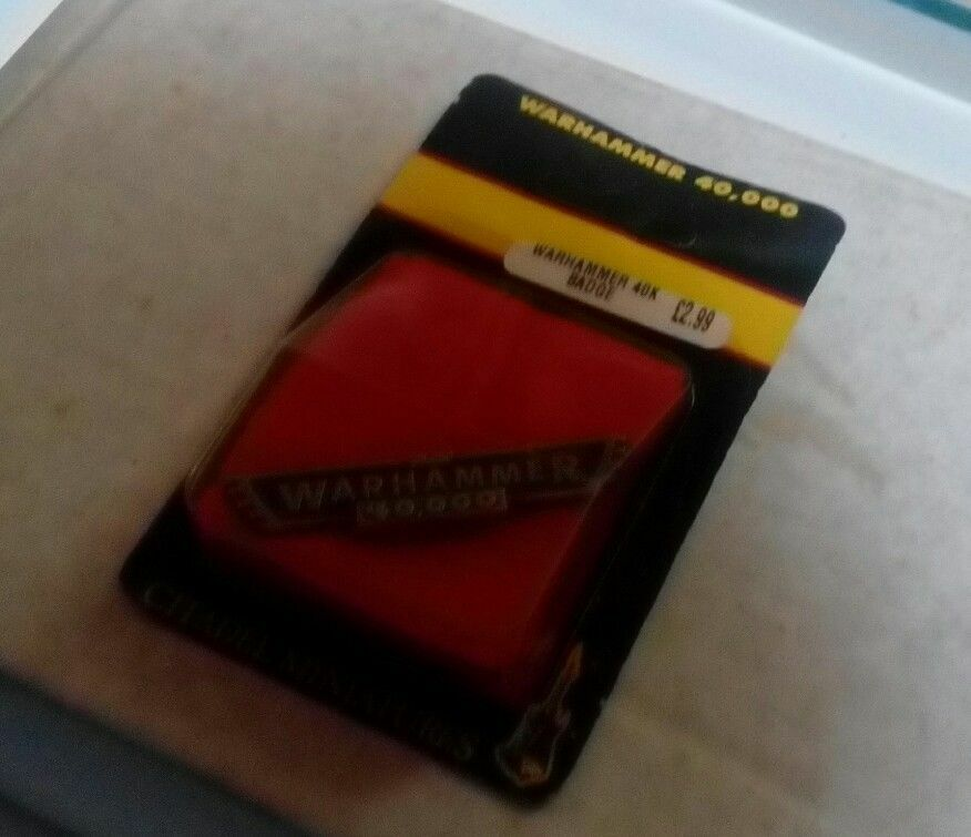 Games Workshop Games Day golden Daemon Staff 2011 Pin Badge Rare Mint New OOP GW