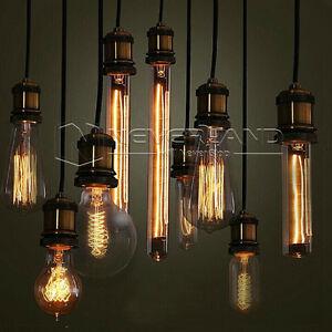 Image Is Loading Ampoule Filament  Carbone E27 40W Retro Edison Incandescence