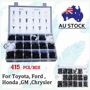 415Pcs-Plastic-Car-Door-Trim-Clip-Bumper-Rivets-Screws-Panel-Push-Fastener-Box