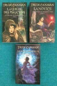 Trudi-CANAVAN-La-trilogie-du-magicien-noir-Tomes-1-2-3-TBE
