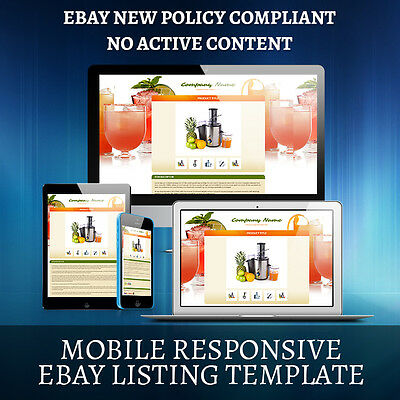 Ebay Mobile Responsive Listing Auction Template Mix Collection On