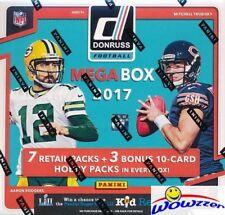 2017 Donruss Football EXCLUSIVE Factory Sealed 10 Pack MEGA Box w/3 HOBBY PACKS!