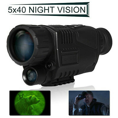 5X40 Digital IR Night Vision Monocular 200m Range Takes Photo Video Free 4GB DVR