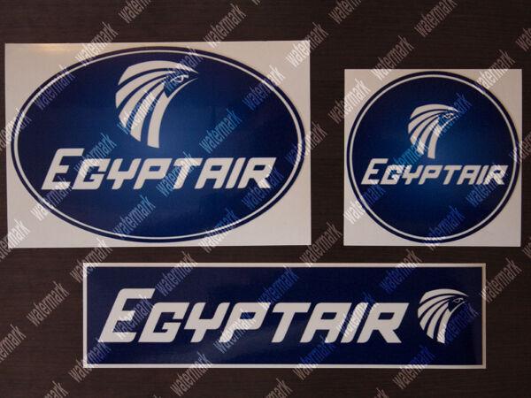 3x DIECUT EGYPTAIR EGYPT AIR LOGO STICKERS / DECALS 1 ROUND 1 OVAL 1 RECTANGULAR