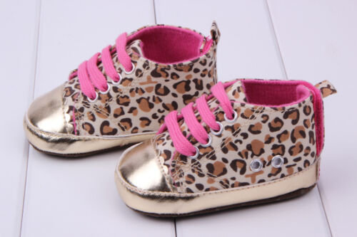 Baby Infant Kid Girl Soft Sole Shoes Leopard Toddler Newborn Shoes First Walkers