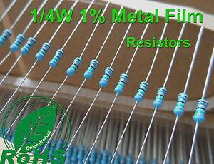 1000-PEZZI-100K-Ohm-film-metallico-Resistenze-1-4W-0-25W-1-di-tolleranza-ROHS