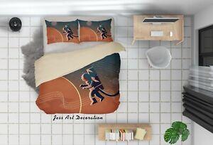 3D Rocket Planet Astronaut Quilt Cover Set Pillowcases Duvet Cover 3pcs Bedding