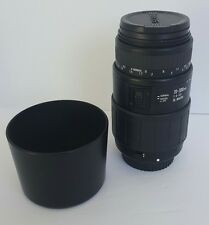 Sigma 70-300mm 1:4-5.6 DL Macro Super Lens Mount For Canon Camera w/Hood