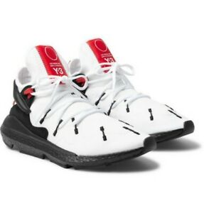 12c772c01 Adidas Y-3 Kusari 2 II Boost Suede and Leather White Black BC0964 ...