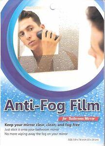 Anti Fog Film For Bathroom Mirror 1 Pc Size 5 9 X 7 8 Inch 15 X