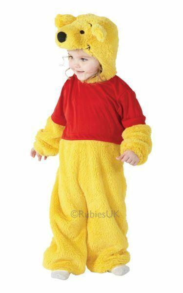 ! Oferta! Niños Licenciado Disney Winnie Pooh Bear Lindo Vestido De Fantasía Traje De Disfraz