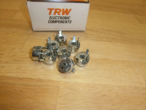 P115R 5K OHMS CTS//TRW WIRE WOUND SINGLE TURN ADJUSTABLE POTENTIOMETER,NOS