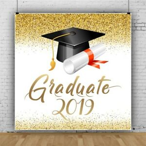 Graduation Season 2019 Hats Backdrop 10x10Ft Event Portrait