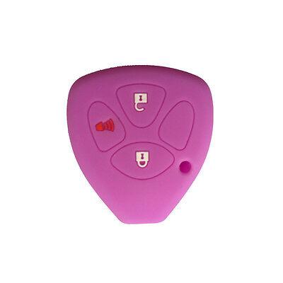 3 Button Purple Silicone Smart Key Remote Fob Skin Cover Holder fit for Scion Tc