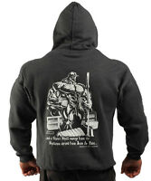 Charcoal Book Of Pain Bodybuilding Clothing Hoodie G-59