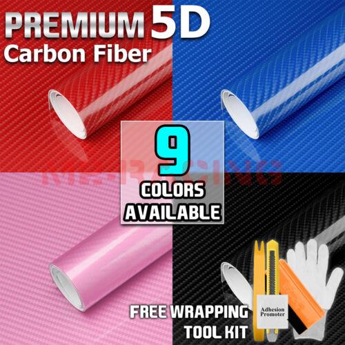 *9 Color Premium 5D High Gloss Carbon Fiber Vinyl Wrap Sticker Decal Bubble Free