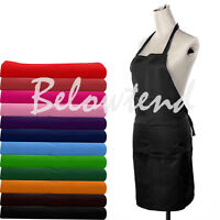 Useful Plain Apron with Front Pocket for Chefs Butchers Kitchen Cooking Craft