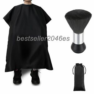 Pro-Salon-Hair-Cutting-Nylon-Cape-Barber-Hairdressing-Gown-Neck-Duster-Brush-Set