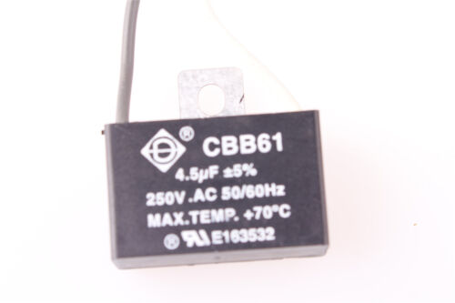 New CBB61 4.5uf 250V AC Start Ceiling Fan Capacitor2 Wire US Shipping