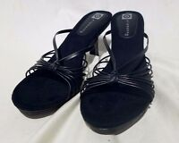Ellemenno Coco Black Size 8m Womens' Sandals Heels Stylish Fancy Comfortable