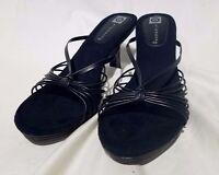 Ellemenno Coco Black Size 8m Womens' Sandals Heels Stylish Fancy Comfortable
