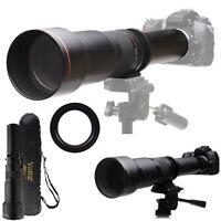 Telephoto Vivitar Zoom 650-1300mm Lens For Olympus E-5 E-510 E-500 E-450 E-420