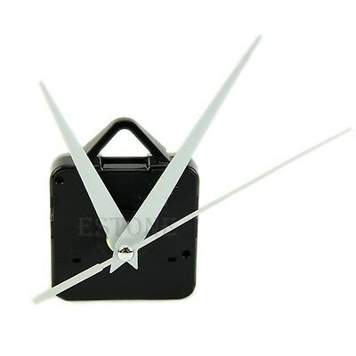 Quartz Wall Clock Movement Mechanism DIY Repair Tool Parts Kit White Hands