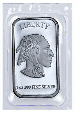 1 oz .999 Fine Silver Buffalo Liberty Bar (Sealed in Plastic) SKU40117