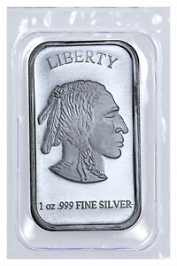 1-oz-999-Fine-Silver-Buffalo-Liberty-Bar-Sealed-in-Plastic-SKU40117