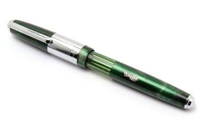 Airmail Emperor Fountain Pen Eyedropper Big Size Marble Green Demonstrator New