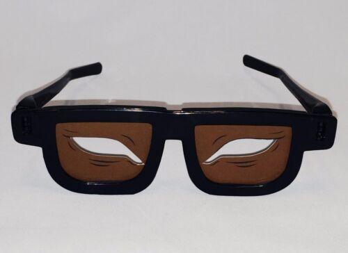 2 Pair Almond Eye Glasses Dark Skin No Brows (Chop Suey) Made in USA