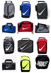 Nike-Kids-Insulated-School-Lunch-Box-Tote-Bag-Duffel-Swoosh-Logo-Red-Black-Blue