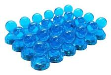 Small Blue Translucent Magnetic Push Pins 24 Pack