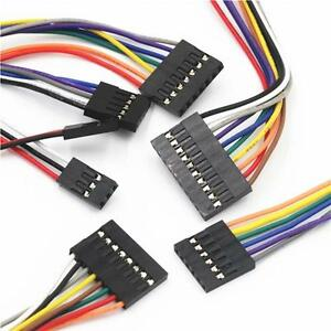 10pcs-Dupont-Wire-Cable-20cm-Female-to-Female-2-54mm-Pitch-Connector-2P-to-10P